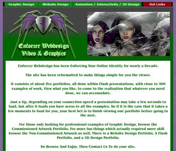 My Art & Design Websites: Enforcer Webdesign Portfolio Flash Site