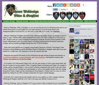 My Art & Design Websites: Enforcer Webdesign