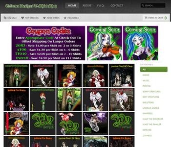 My Art & Design Websites: Vlad's Undead Angels / Enforcer Designs Old T-Shirt Shop