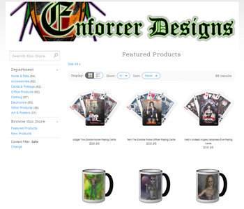 My Art & Design Websites: Vlad's Undead Angels / Enforcer Designs Accessories Shop